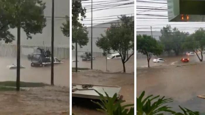 Tras las lluvias de este martes se registraron afectaciones en Tlalnepantla, Cuautitlán Izcalli, Atizapán de Zaragoza y Naucalpan.