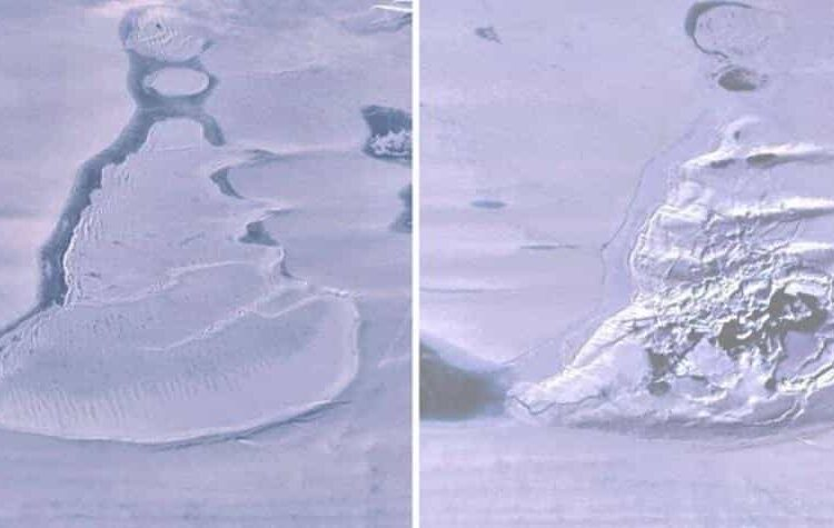 Ocurrió en el invierno de 2019 en la plataforma de hielo Amery, en la Antártida oriental.