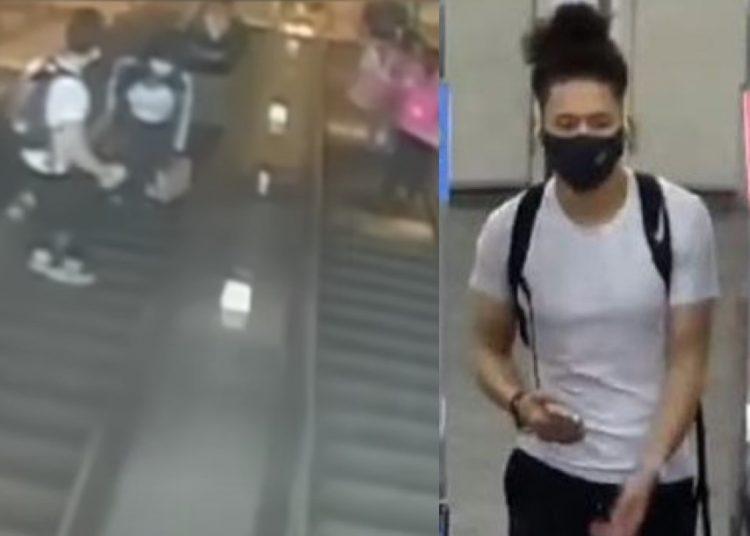 Sujeto patea a mujer en escaleras eléctricas en EU; provoca su caída