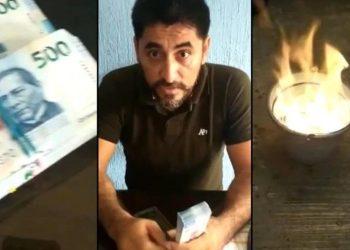 """""""Ahí está su dinero, cabr…."""": Maestro quemó más de un millón de pesos con el que intentaron sobornarlo"""