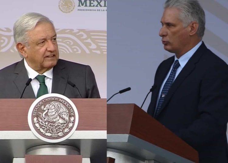 El presidente de Cuba, Miguel Mario Díaz Canel Bermúdez, agradeció a México el apoyo brindado durante el inicio del desfile militar.
