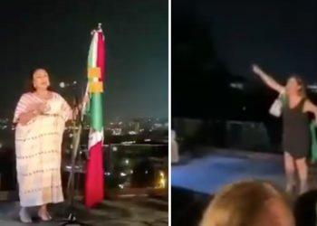 El grito de la Cónsul generó críticas de usuarios de redes sociales, incluso una mujer la increpó durante la ceremonia del aniversario de la Independencia mexicana celebrada en Estambul.