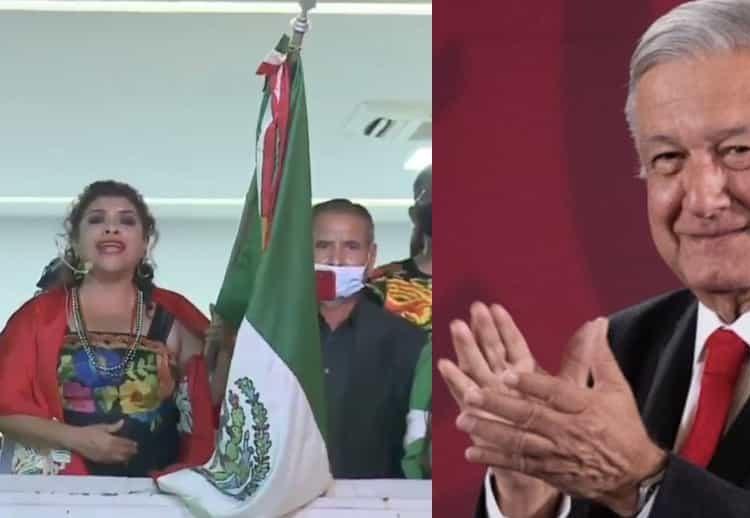 """""""Viva Andrés Manuel López Obrador"""" dice alcaldesa durante 'Grito' de más de dos minutos y medio"""
