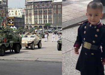 El padre de Luis pertenece a la Guardia Nacional, corporación que participará en el desfile militar de este 16 de septiembre.