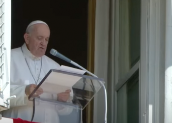 Francisco recordó la inundación tras el rezo del ángelus dominical en la plaza de San Pedro del Vaticano.