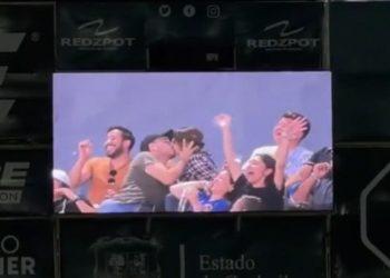 Durante partido de béisbol de los Álgodoneros