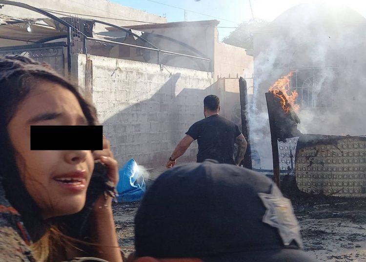 Policías municipales arriesgan su vida para salvar a tres niños de un incendio