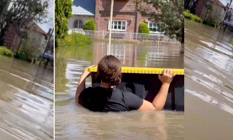 Se inunda casa de joven y este se regresa a salvar serpientes atrapadas en su cuarto
