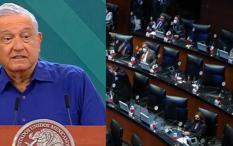 """PAN pide a AMLO que """"no le saque"""" y asista al Senado"""