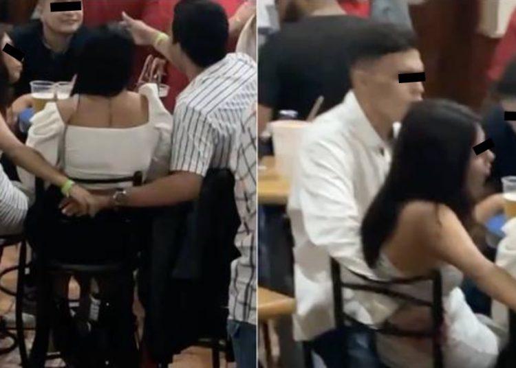 Exhiben a infieles, lo graban engañando a su novia con la mejor amiga