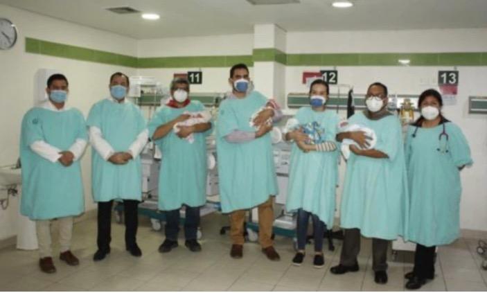 Nacieron cuatrillizos en Sonora con buen estado de salud