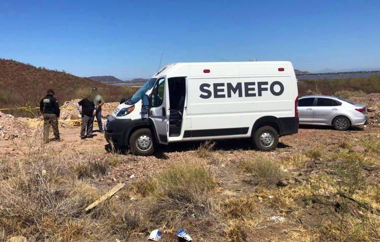 Hallan cinco muertos en carretera de Sonora; dejan mensaje amenazante