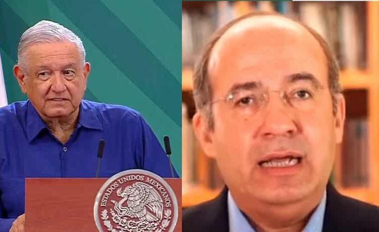 El presidente se preguntó con qué calidad moral Calderón se atreve a hacer estas acusaciones cuando su secretario de seguridad está preso en los EU.