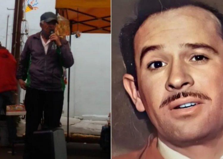 Abuelito canta idéntico a Pedro Infante y se vuelve viral
