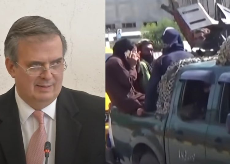 """El canciller mexicano, Marcelo Ebrard, exigió este martes a los talibanes """"respetar"""" los derechos humanos de la población afgana"""