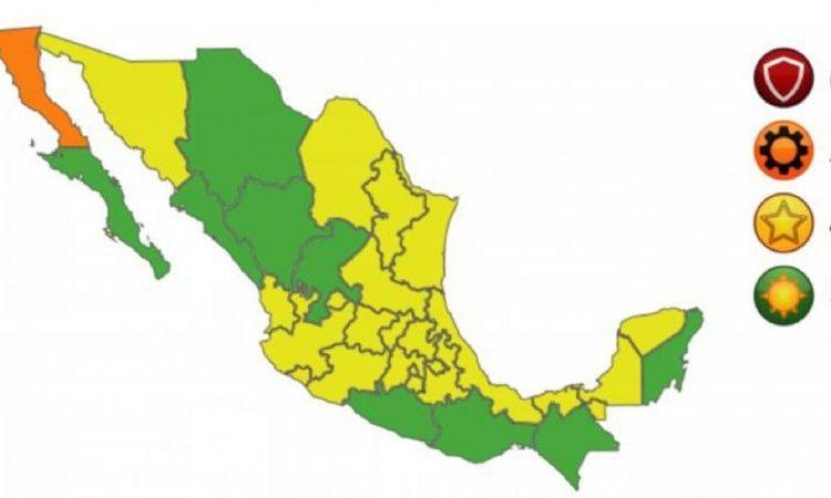 Así quedó el semáforo del 11 al 17 de octubre: 1 estado en naranja, 22 en amarillo y 9 en verde