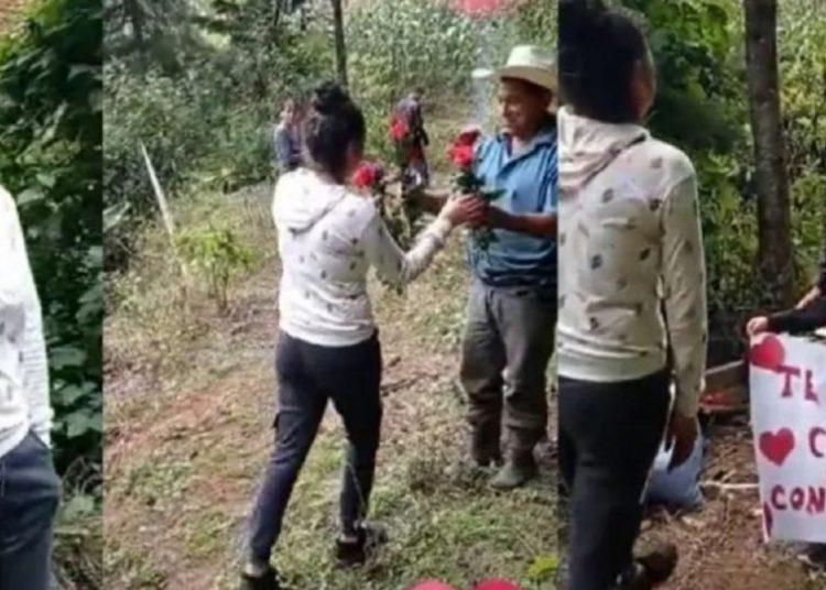 El especial suceso se dio en una comunidad rural en Guatemala, donde el joven contó con apoyo de familia y amigos de ambos para concretar la petición con todo y anillo