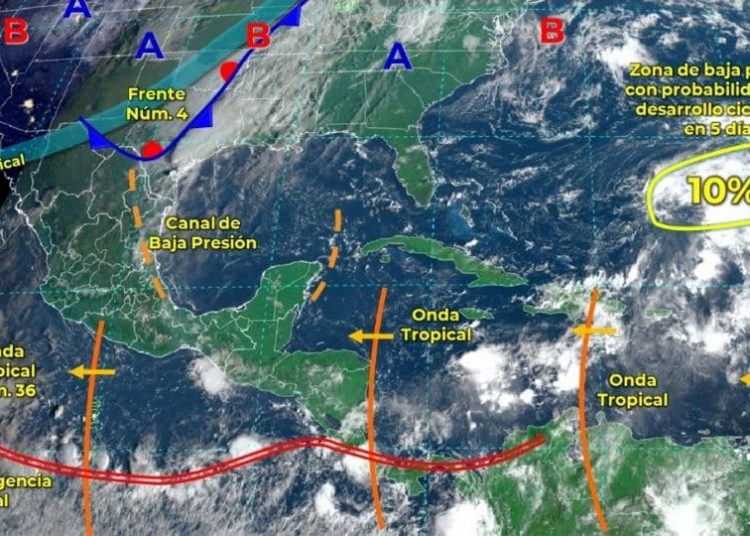 El Servicio Meteorológico Nacional informó que en zonas de 7 entidades se verán afectadas por las lluvias que se registrarán en las siguiente horas