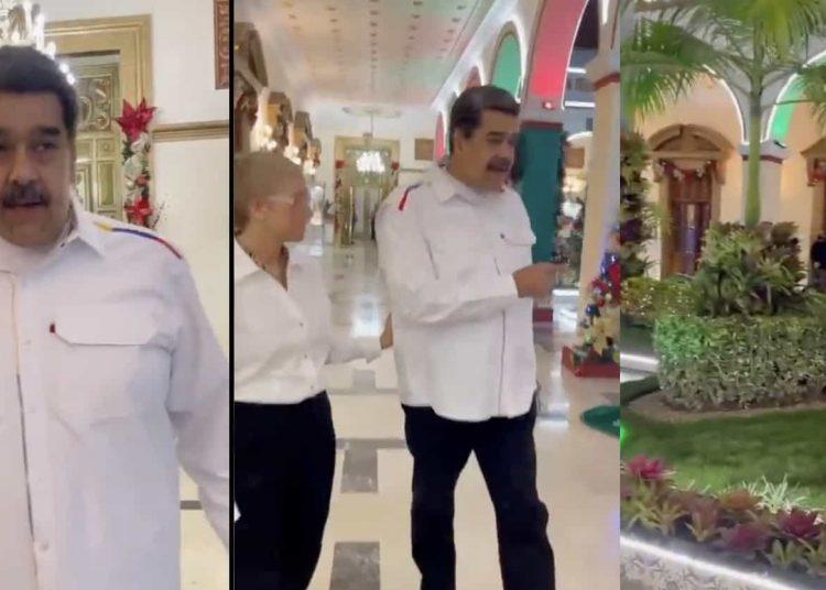 Pese a la continua devaluación de la moneda en Venezuela, el presidente muestra un poco de la opulencia que se vive en el palacio.