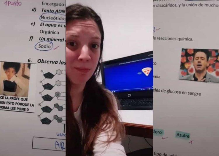 Por medio de TikTok, una profesora se hizo viral al demostrar su extraña manera para calificar las actividades y examenes de sus alumnos.