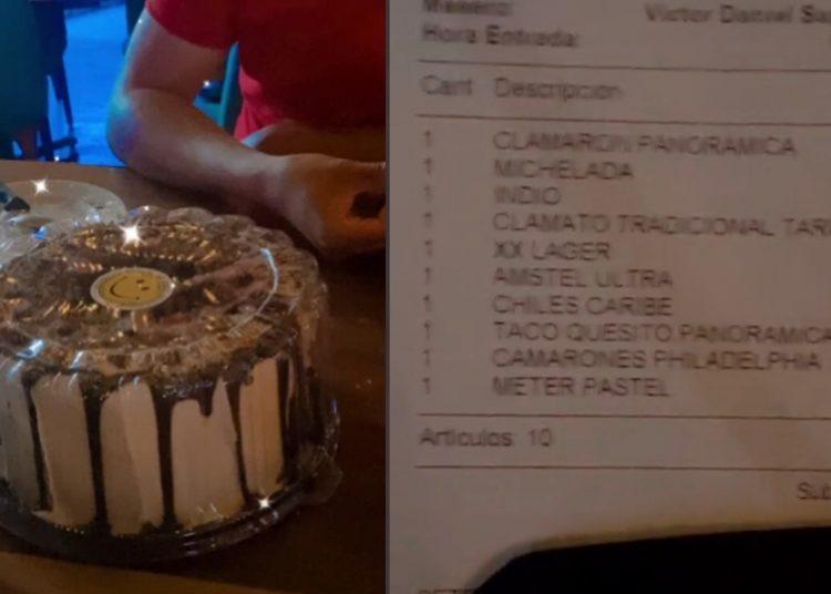 Ofrecen a comensales guardarles su pastel en el refri, y restaurante les cobra el servicio