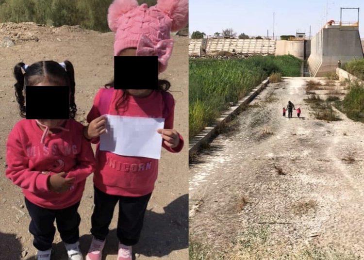 Encuentran a dos niñas perdidas vagando cerca de la frontera con México