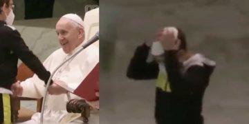El pequeño fue protagonista en la audiencia general de este miércoles en El Vaticano e incluso se sentó en la silla de un cardenal