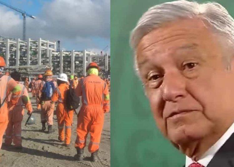 López Obrador afirmó que dos sindicatos que tienen contrato con ICA Fluor son los que están en paro de labores en la refinería de Dos Bocas
