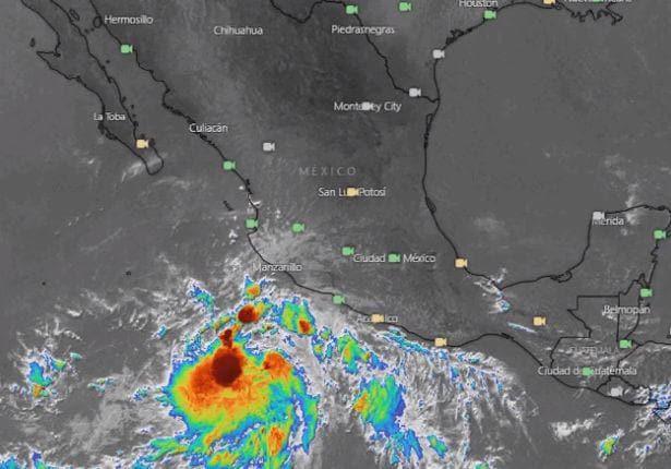 En las próximas horas, el sistema ocasionará lluvias muy fuertes en Colima, Jalisco, Michoacán y Nayarit, y fuertes en zonas de Guerrero.