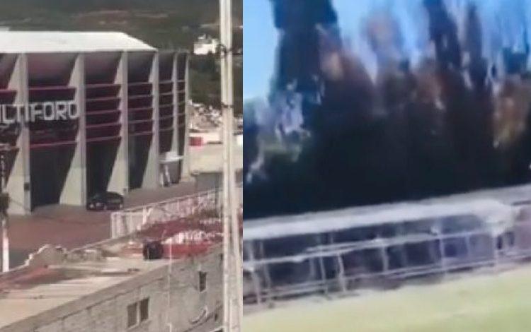 Un partido de futbol infantil que se realizaba cerca del lugar tuvo que ser suspendido debido a la balacera.