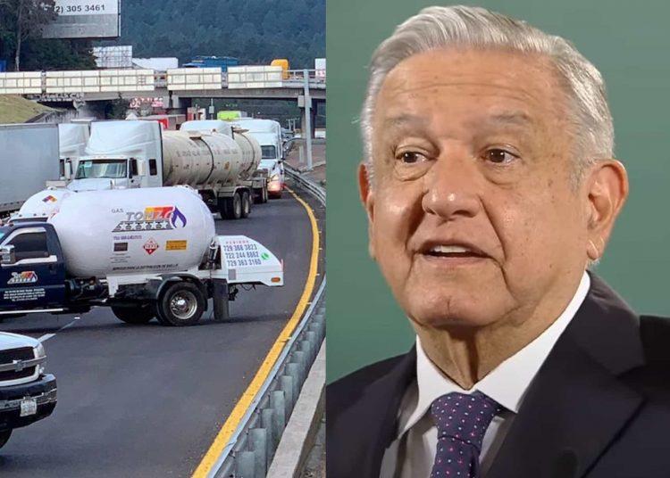 El presidente López Obrador aseguró que no habrá desabasto del hidrocarburo ante las protestas de gaseros de las últimas horas
