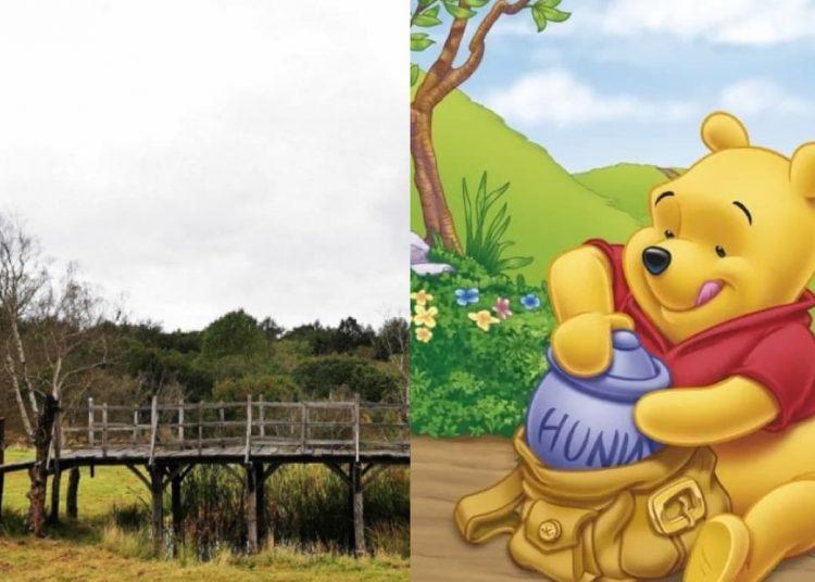 El creador Alexander Milne y su hijo Christopher Robin Milne, solían jugar en el viejo puente de madera, subastado en el Reino Unido.