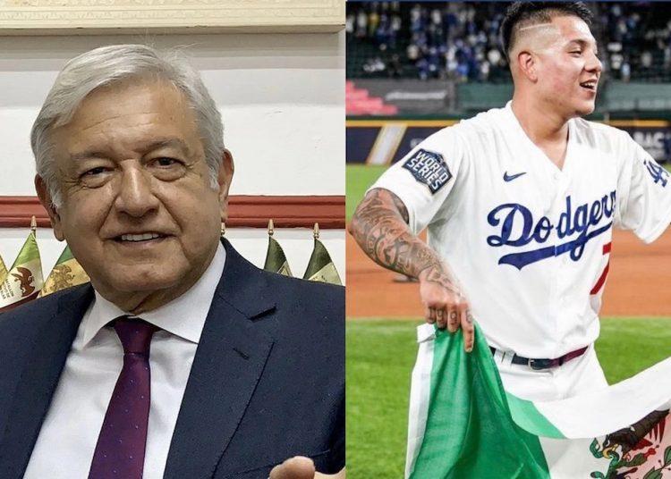 """Así felicitó AMLO a Julio Urías por su desempeño en la MLB: """"Va tras los pasos de Valenzuela"""""""