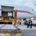 Llegó al Aeropuerto Internacional de la Ciudad de México un avión procedente de Cincinatti, con más de medio millón de vacunas contra el Covid de la farmacéutica Pfizer.